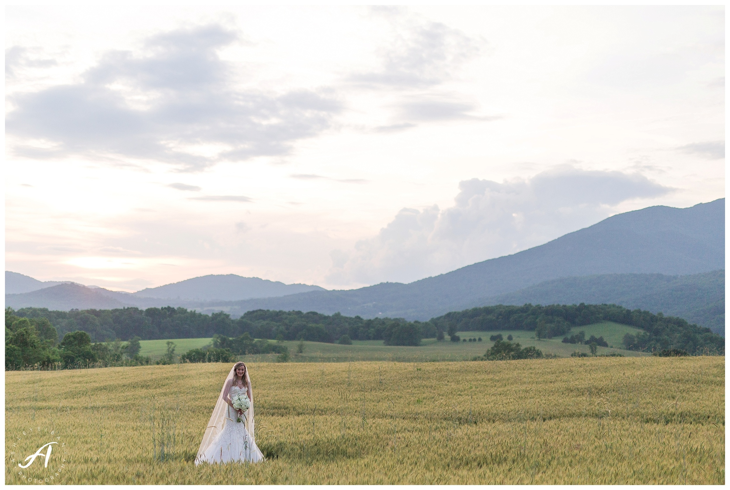 Bedford, Virginia Bridal Portraits || Mountain View Bridal Portraits || Ashley Eiban Photography || www.ashleyeiban.com