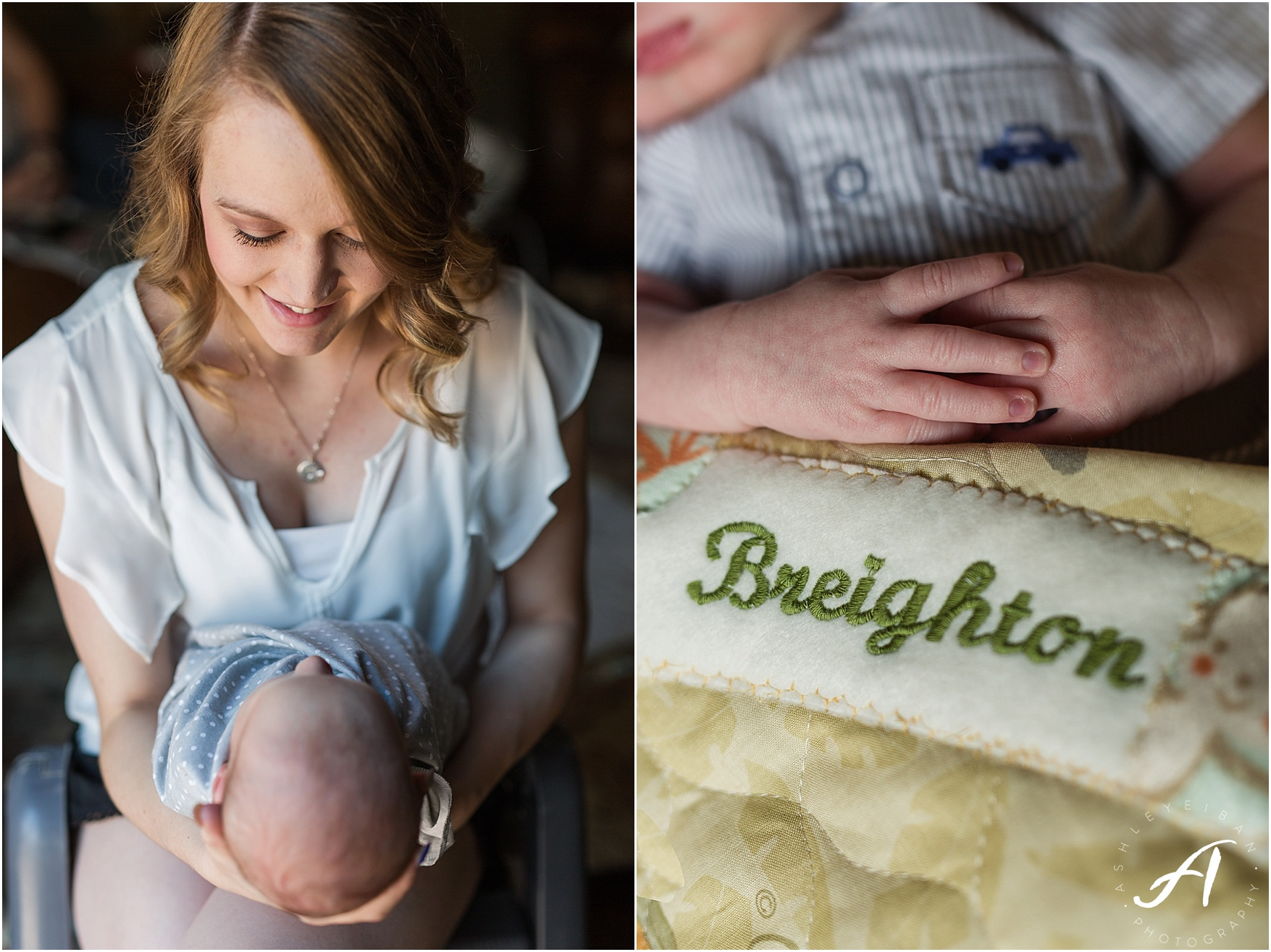 Albuquerque, New Mexico Family and Lifestyle Photographer || Breighton's Newborn Session || Ashley Eiban Photography || www.ashleyeiban.com