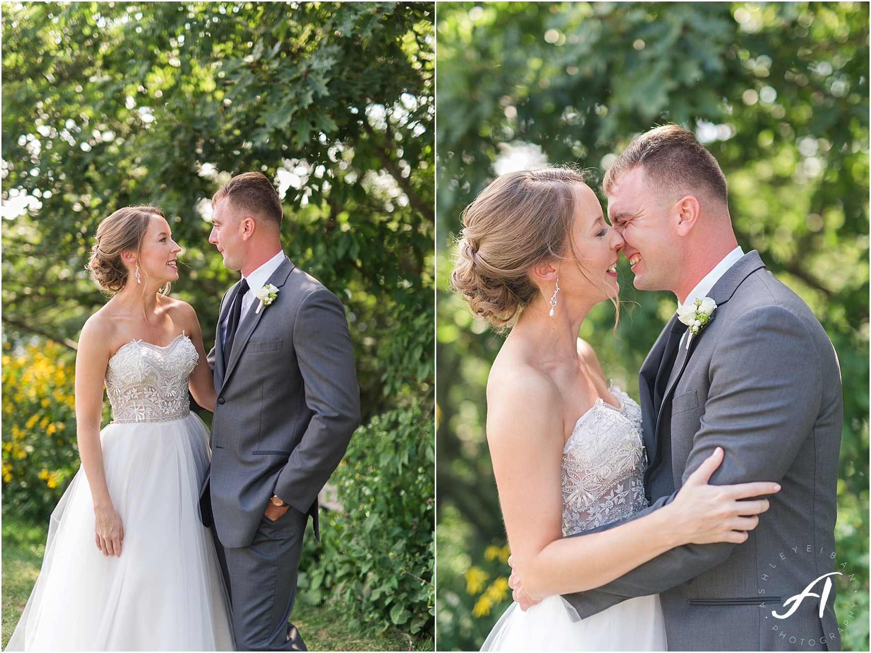 Wintergreen Resort Wedding || Elegant gray and green summer wedding || Ashley Eiban Photography || www.ashleyeiban.com