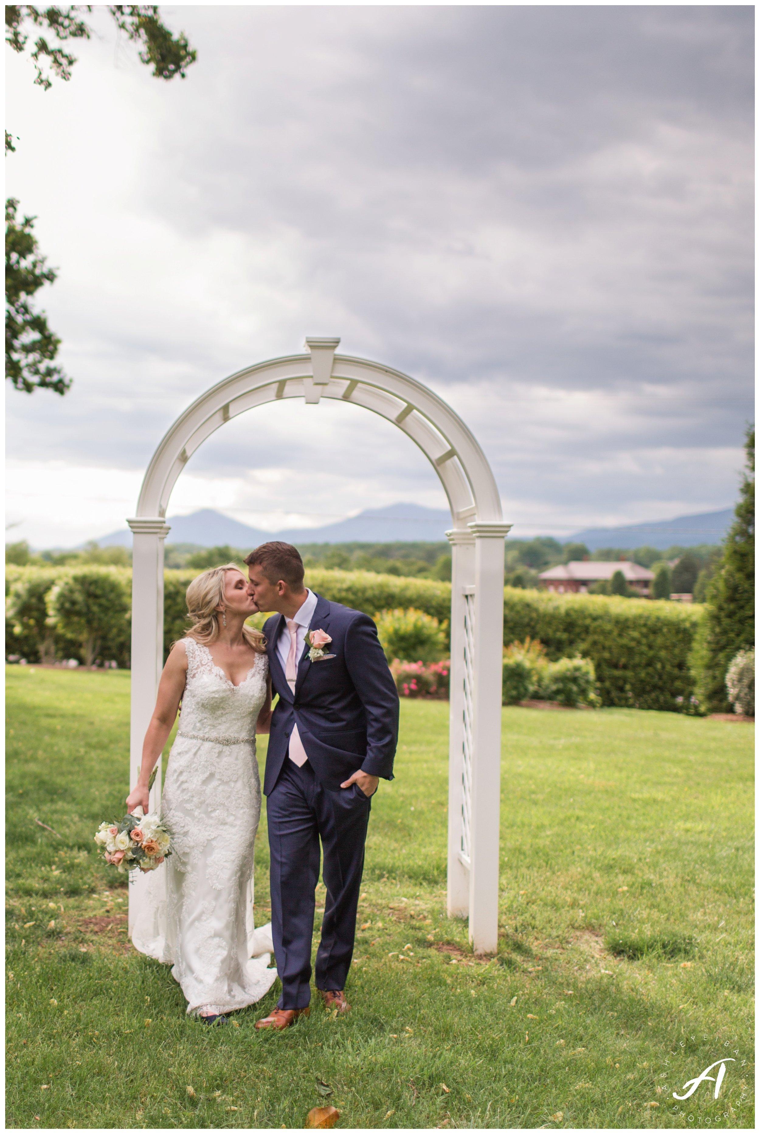 Sunset Portraits on a wedding day || Spring Trivium Estate Wedding || blush and navy wedding || Ashley Eiban Photography || www.ashleyeiban.com
