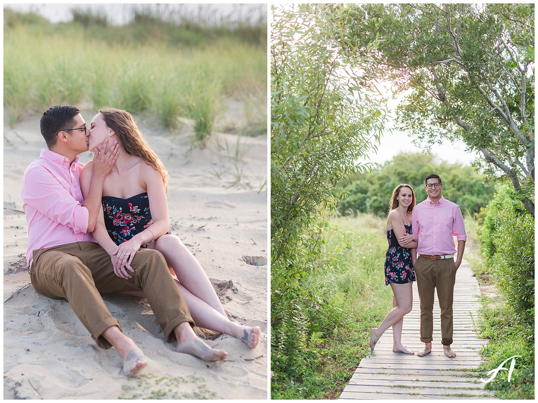 Virginia Beach Engagement Session at Back Bay || Central Virginia Wedding and Portrait Photographer || www.ashleyeiban.com