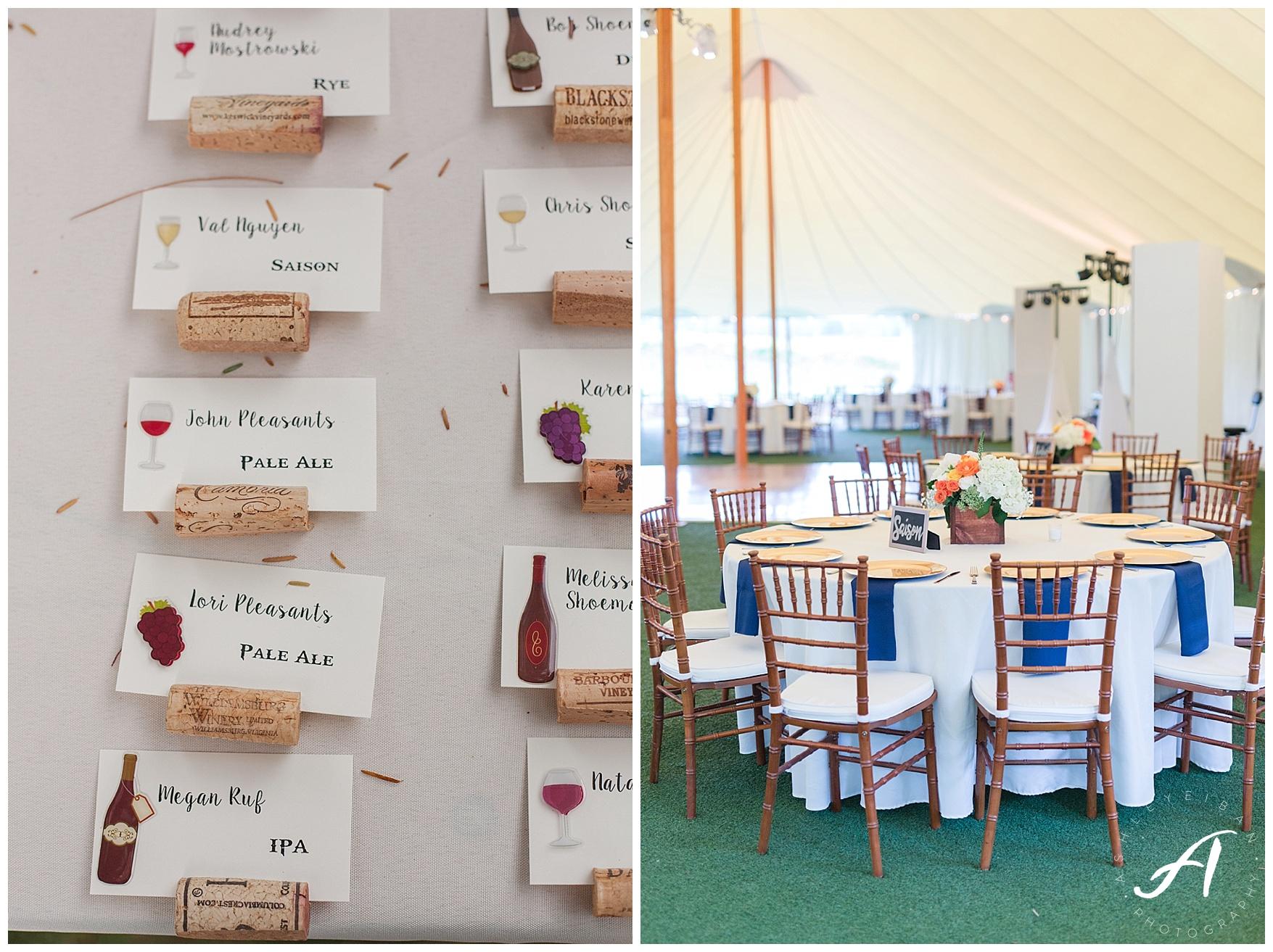 Keswick Vineyard Wedding Photographer    Charlottesville Winery Wedding Photographer    Central Virginia Fall Wedding    www.ashleyeiban.com