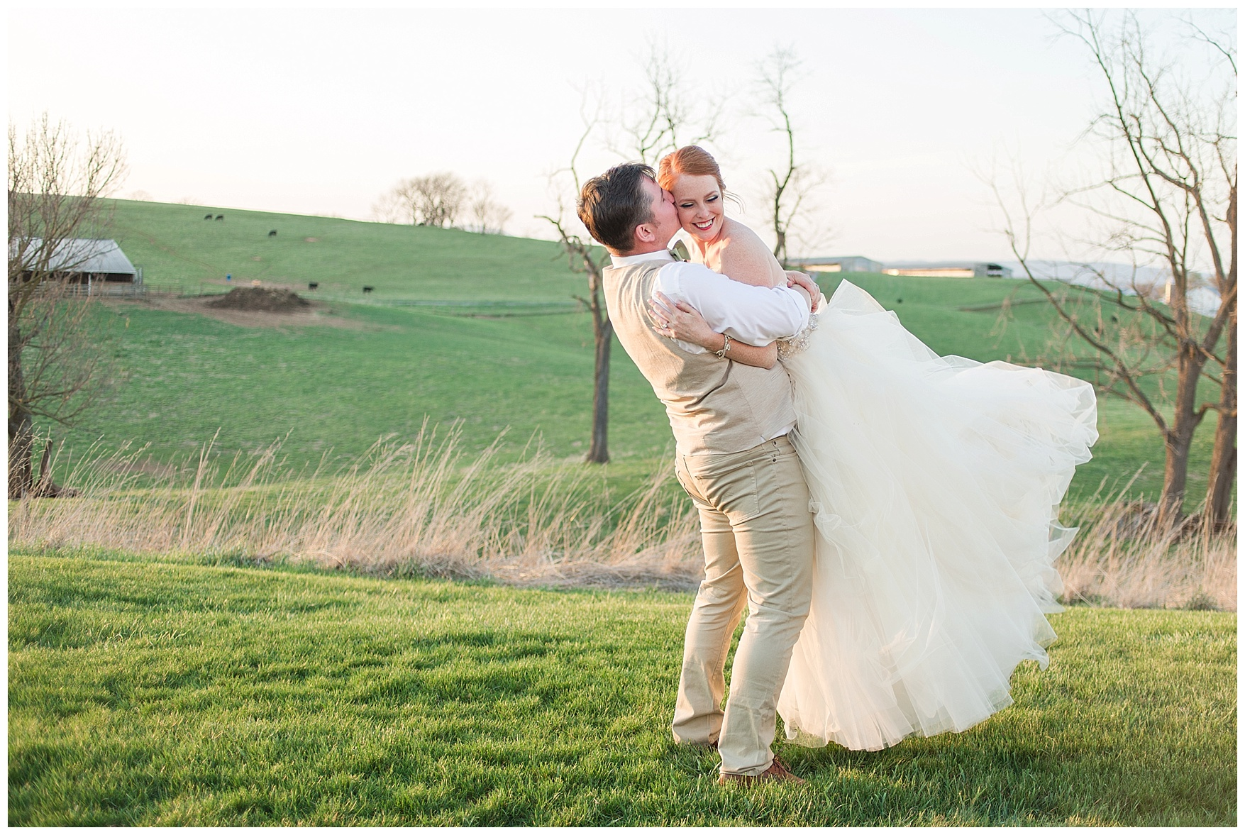 Sunset Photos at On the Sunny Slope Farm Wedding  || Harrisonburg, Virginia Wedding Photographer || Lynchburg VA Photographer
