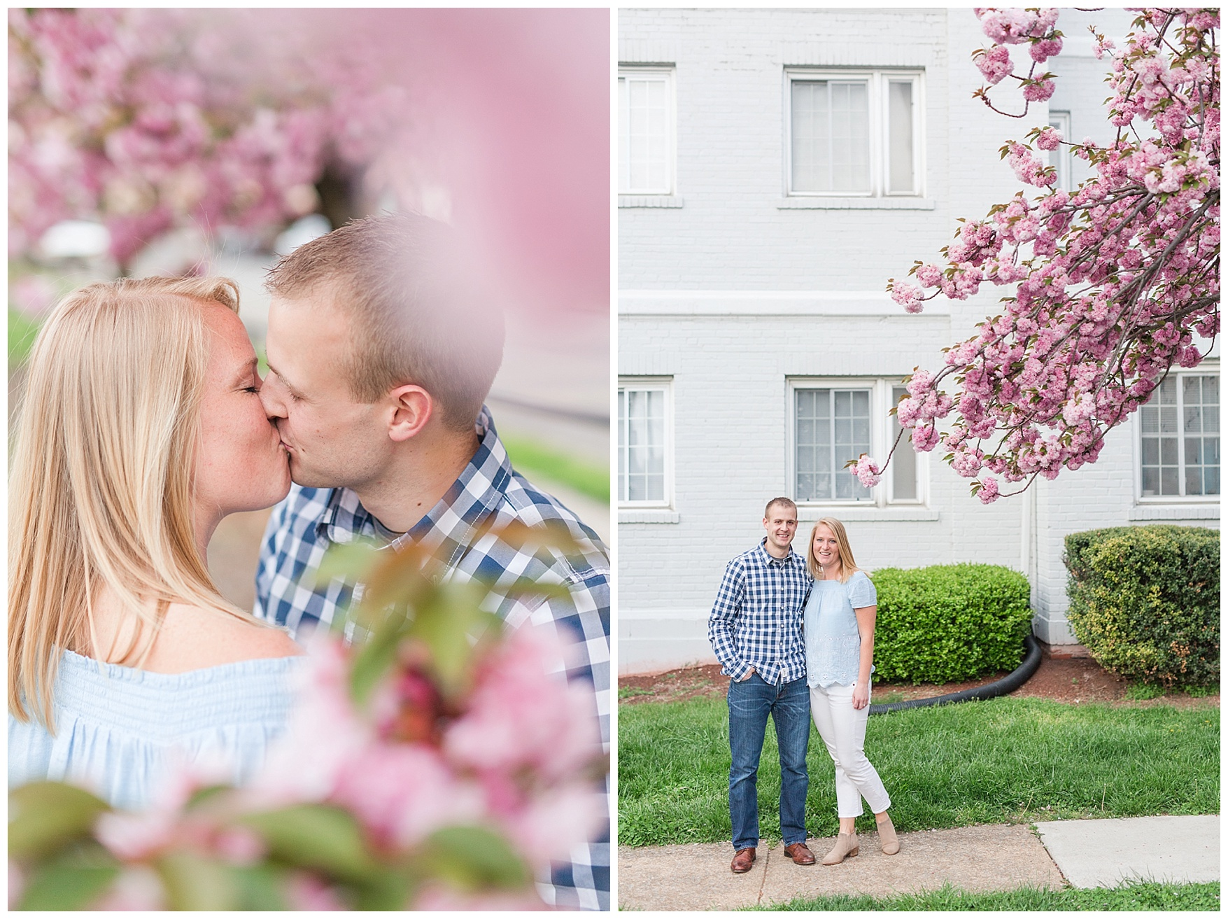 Downtown Lynchburg Engagement Session || Spring Bloom Engagement || Ashley Eiban Photography
