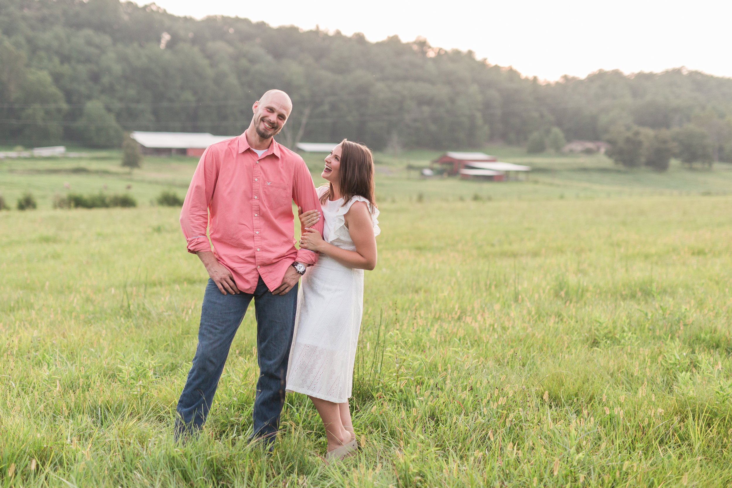 Eagle Rock Engagement Session || Summer Engagement Session in Central Virginia || Virginia Wedding Photographer || Ashley Eiban Photography