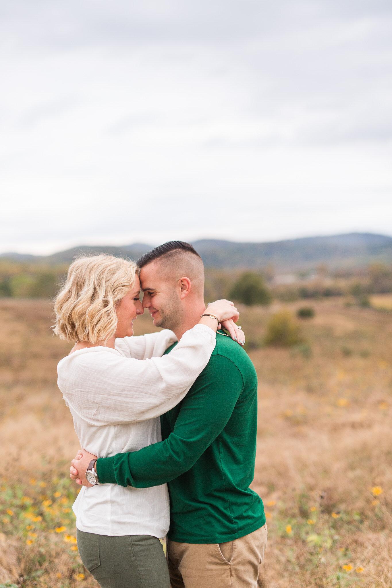 Fall Mountain Engagement Session in Lynchburg, Virginia || Lynchburg Wedding and Portrait Photographer