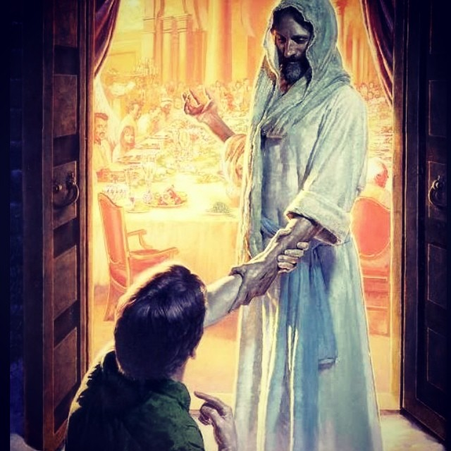 Love this picture. Always makes me think of how Christ invited me to the table. #allisgrace