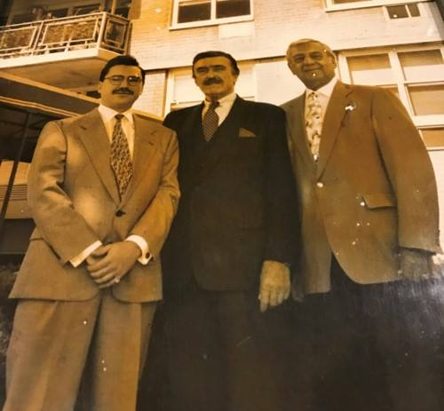 Pictured: Fred Trump with Consigliere and associate of Semion Mogilevich, Brad Zackson - pictured left of Fred.  (Credit: Dynamic Worldwide Group)