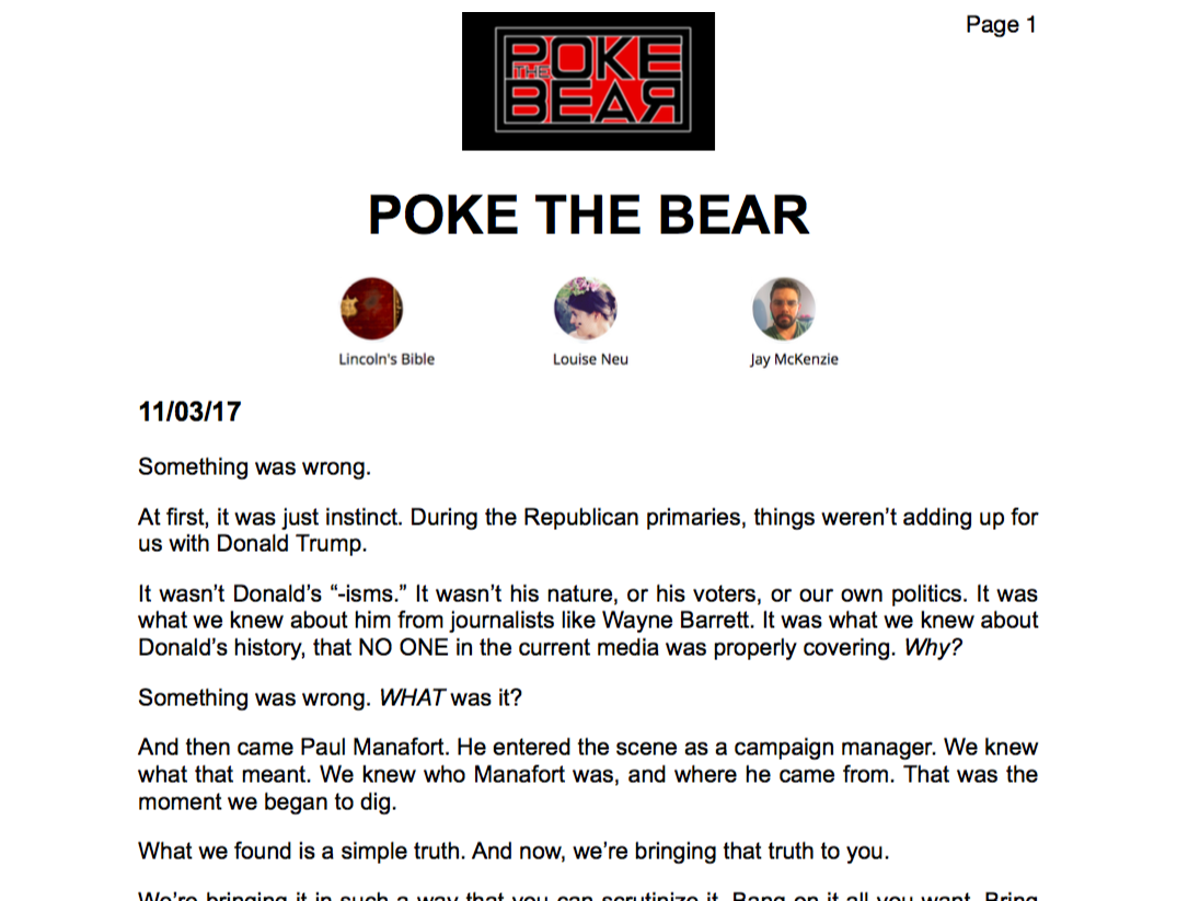 Poke The Bear Printable PDF