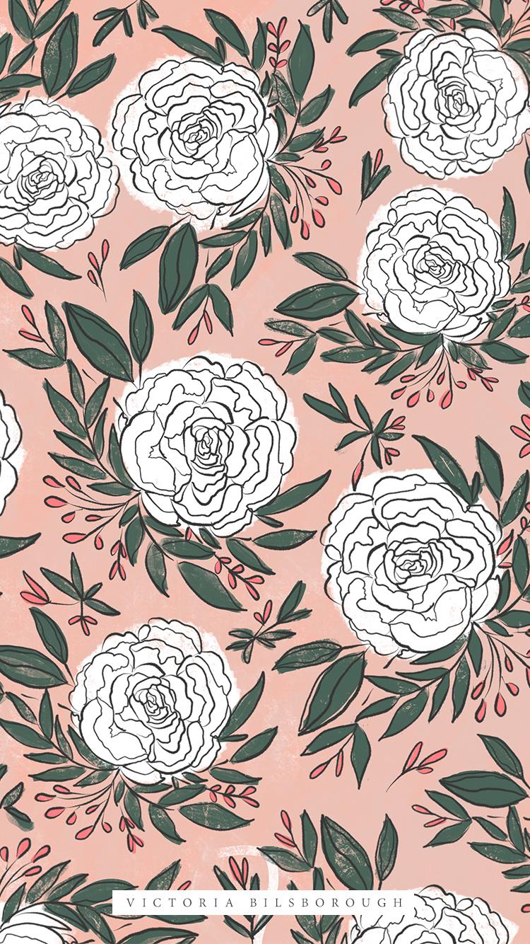 Floral-Wallpaper-Free-VictoriaBilsborough