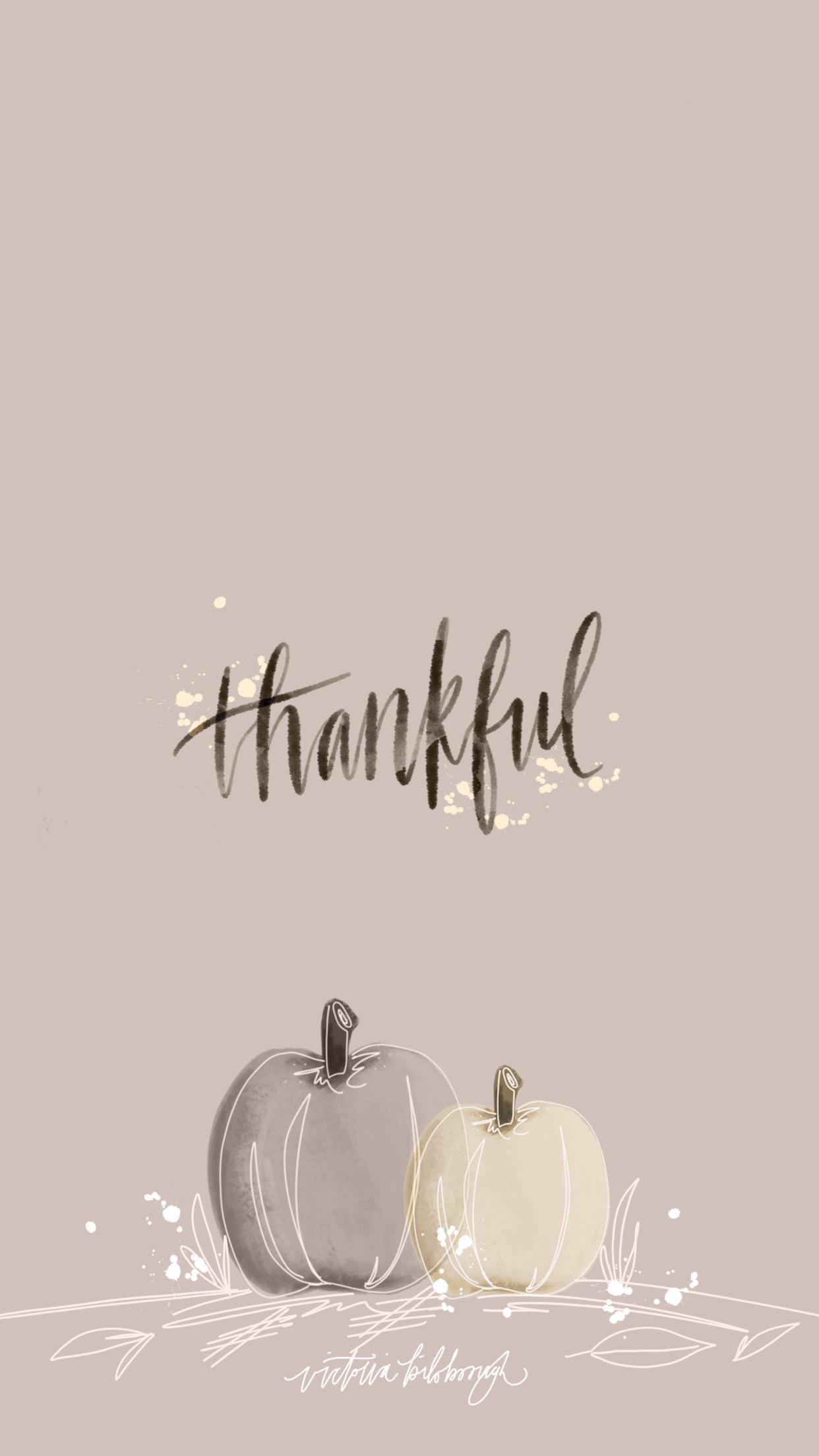 November + Thanksgiving Wallpapers | victoriabilsborough.com