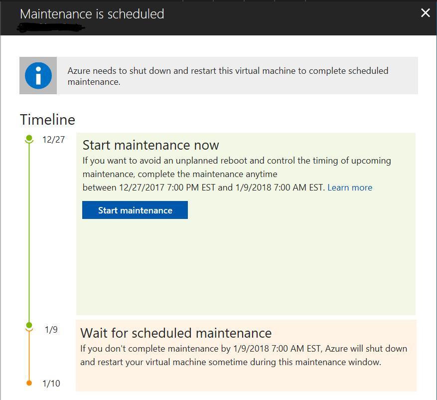 Get Ahead Before 2018 - Azure VM Maintenance — Cloud, Sweat