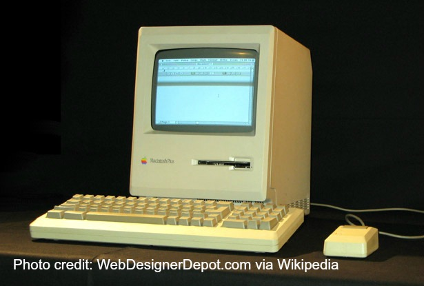 A Macintosh Plus, just like we had in Computer Science!