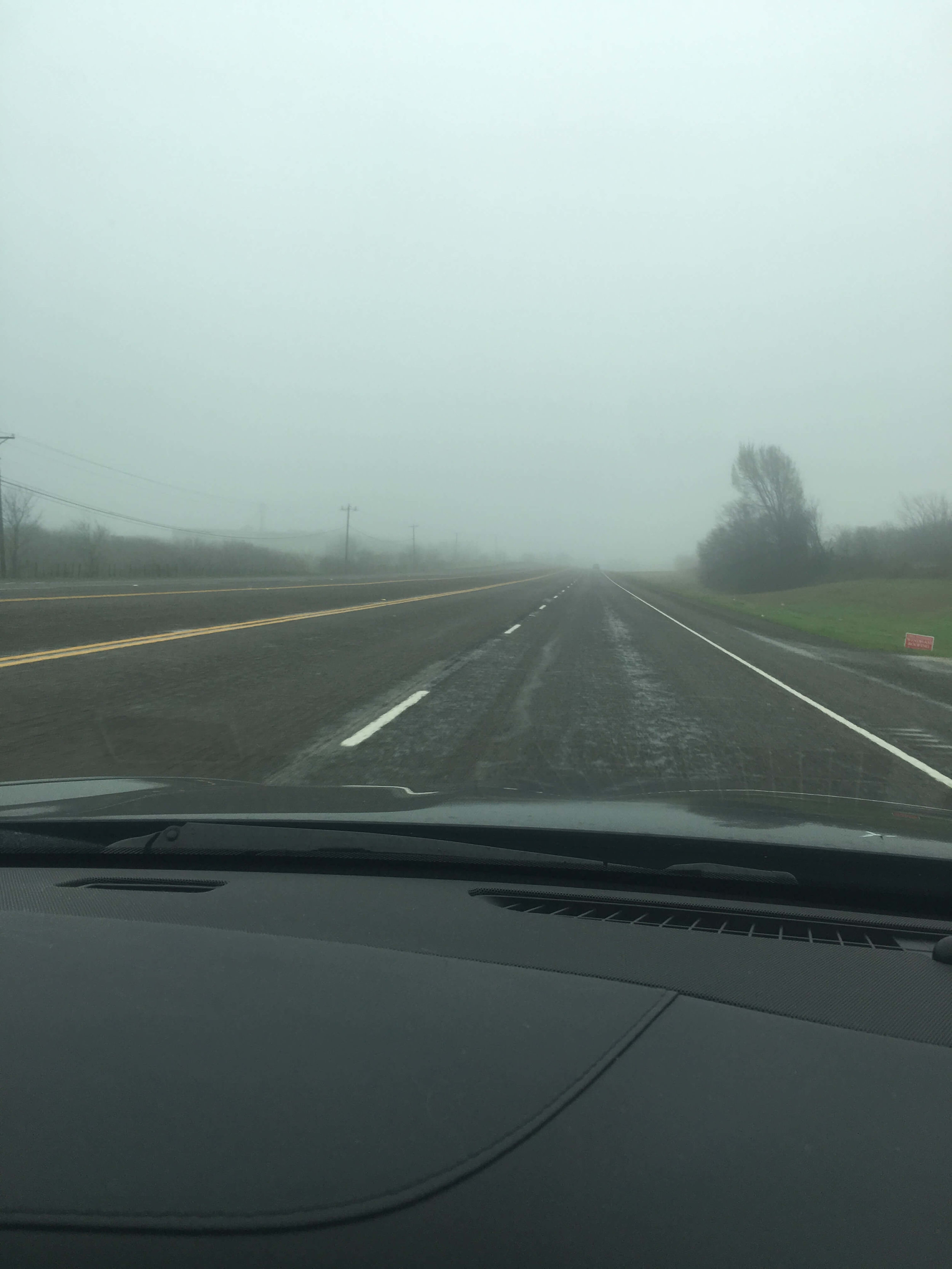 This dreary day matches my mood: lonely, foggy, and dark gray. Blah.