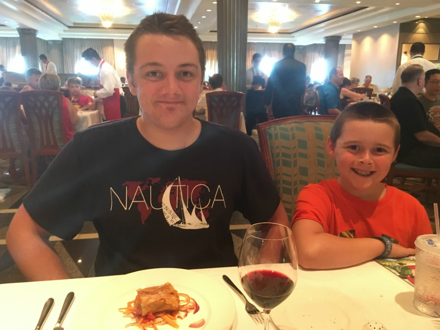 Our boys at Cabanas restaurant