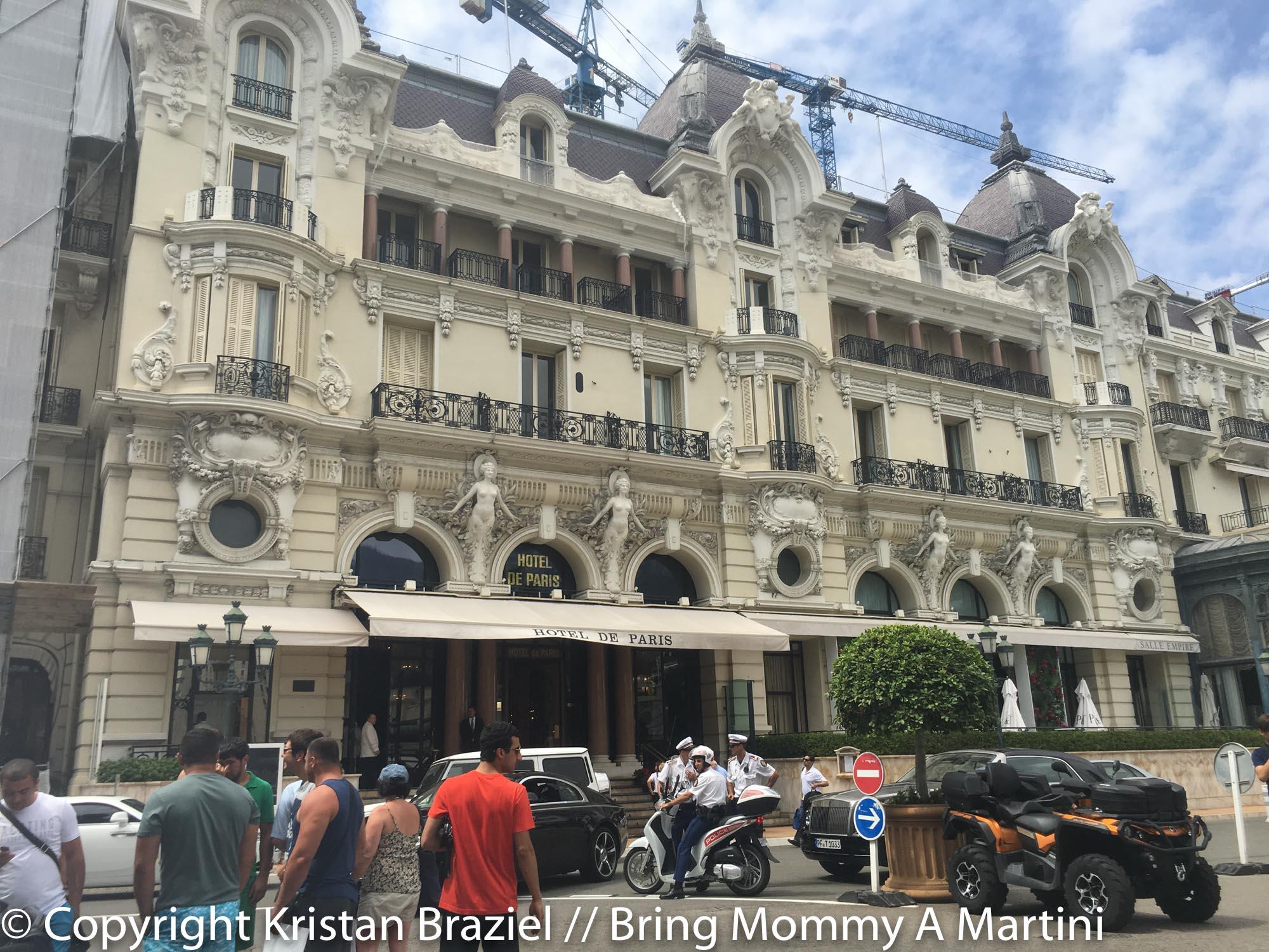 The famous Hotel de Paris