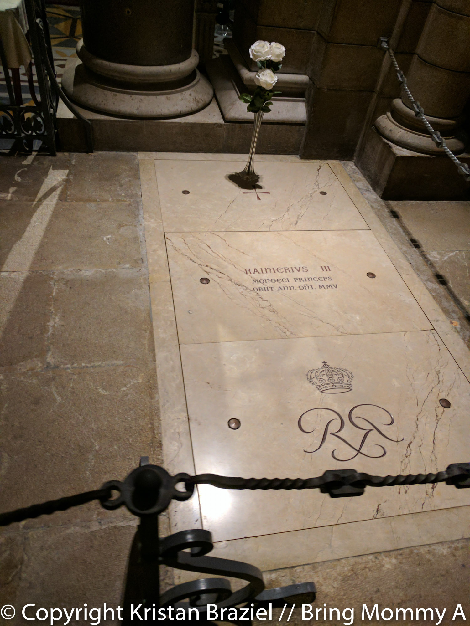 Prince Rainier's tomb