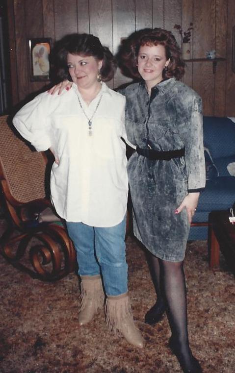 My mom and me, circa 1988