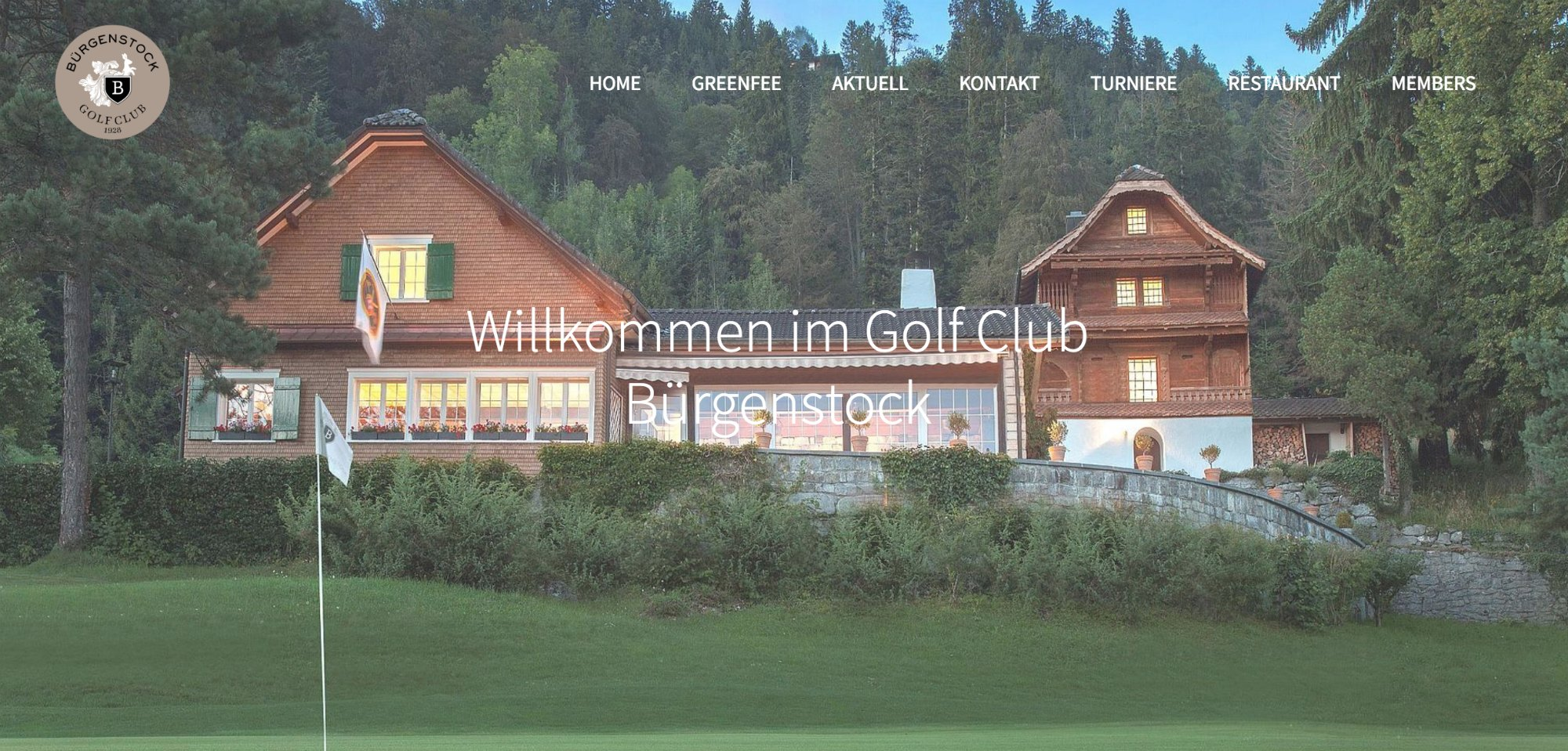 This is how the Golf Club looks now, but this photo is deceiving. It isn't nearly as large as it looks here. Why didn't I take my own photo? Great question. I'm a complicated little bunny. (Photo credit: Burgenstock Resort website)