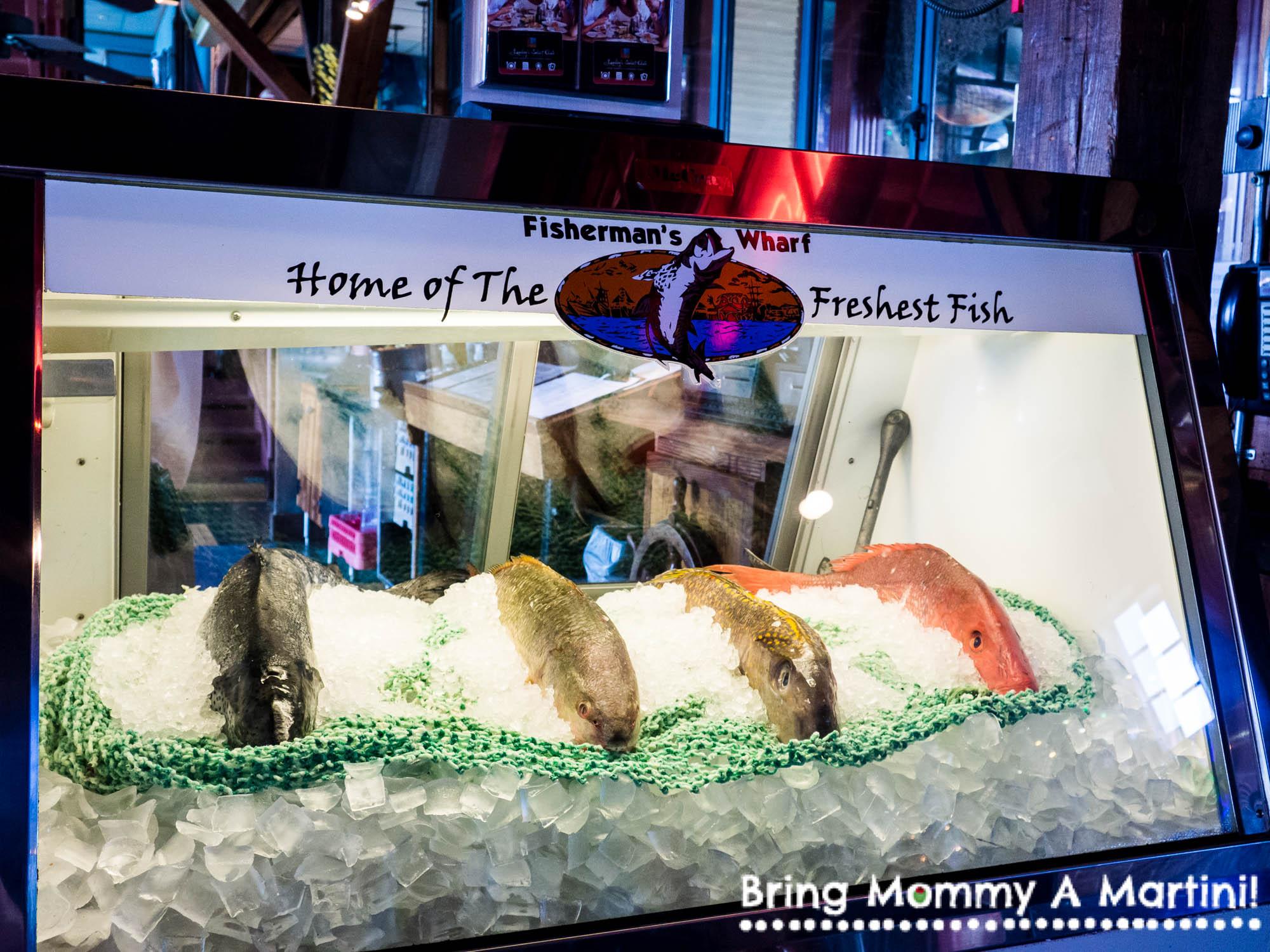 Fresh fish at Fisherman's Wharf