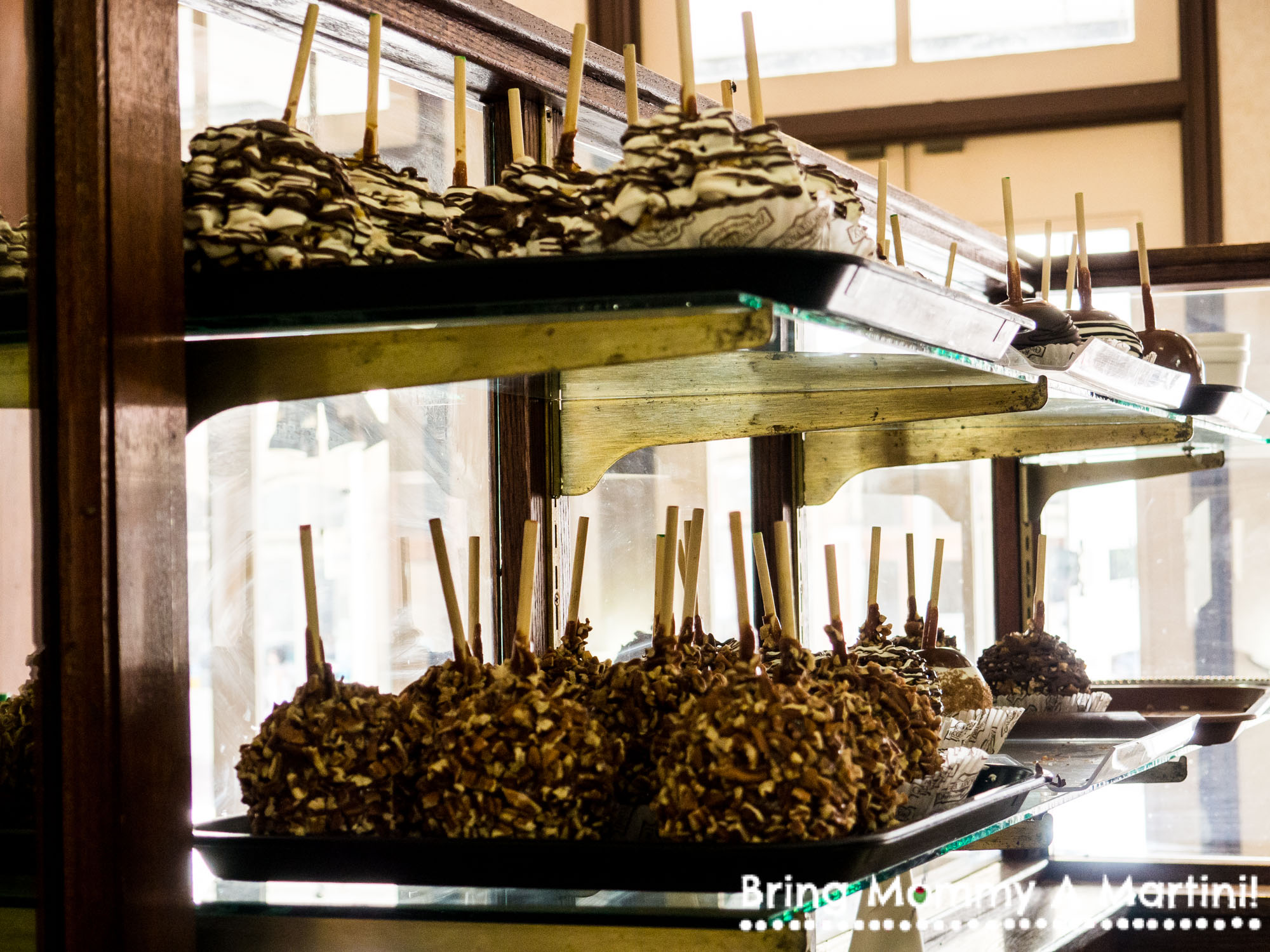 Candied apples at The Chocolate Factory