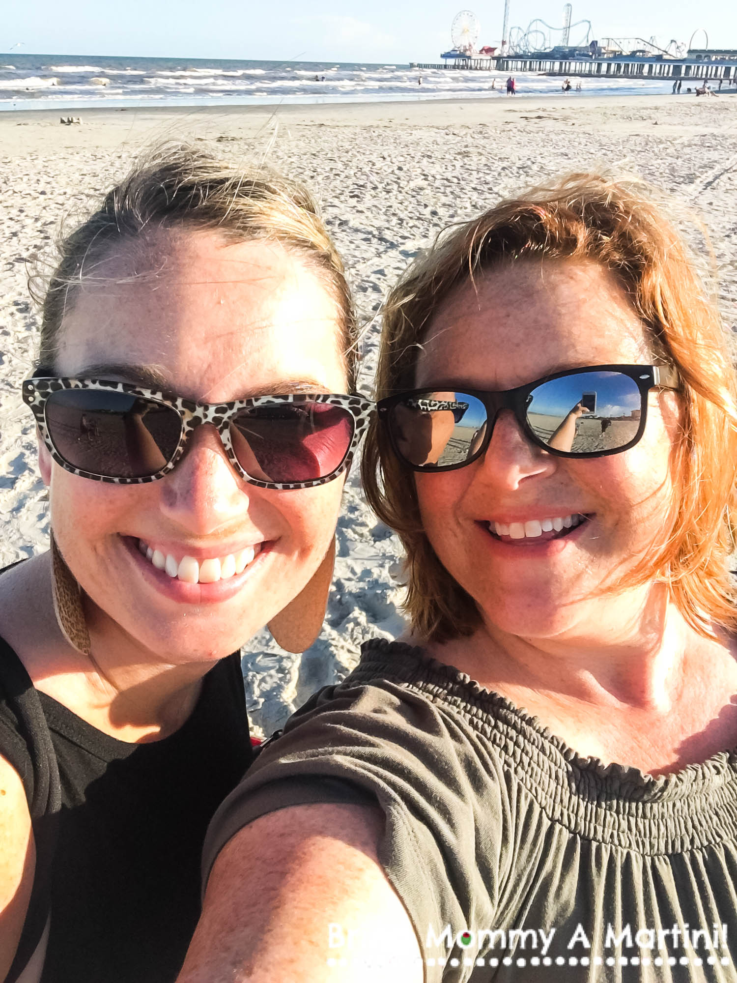 My sis-in-law and me doing a beach selfie