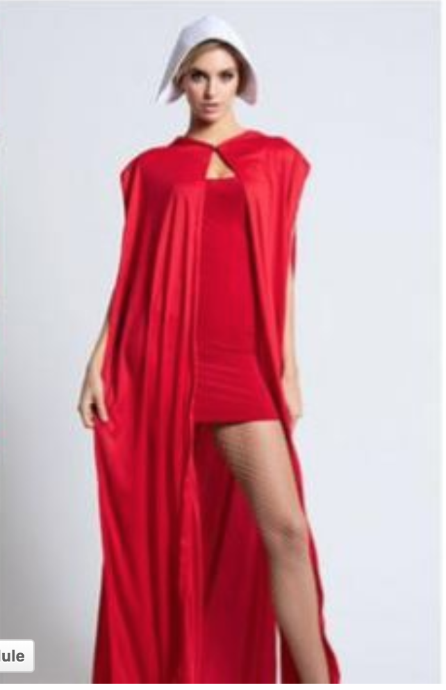 Photo courtesy Fox News: http://www.foxnews.com/lifestyle/2018/09/21/sexy-maiden-costume-yanked-from-website-after-backlash-from-handmaids-tale-fans.html