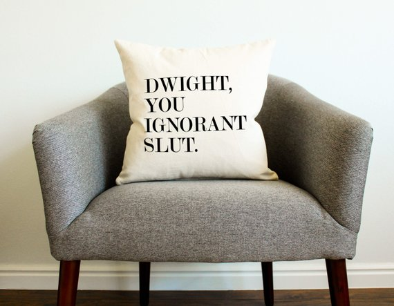 gift-guide-dwight-ignorant-slut-pillow-office