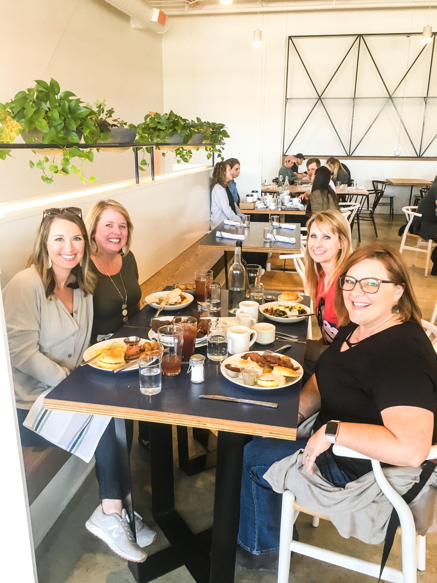Jill, Sunday, Leighton, and me!