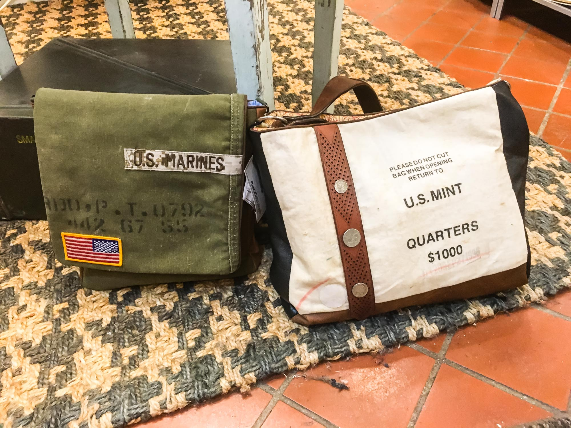 I'm going back for one of these bags. I love the Marines one, since  my hubs is a former Marine , but I'm thinking the US Mint one is more versatile.