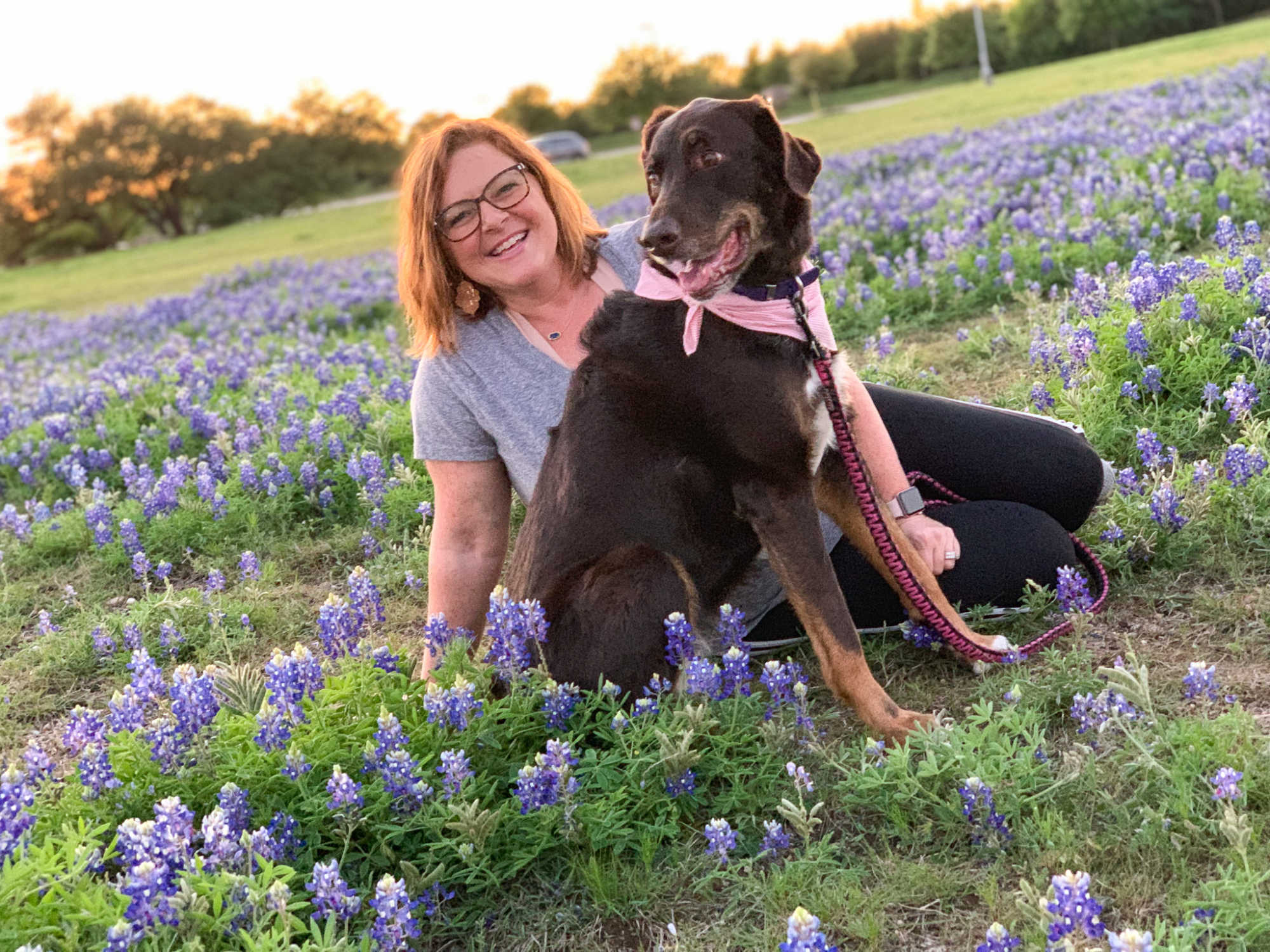 Me and my girl, Lilly, in the Texas bluebonnets