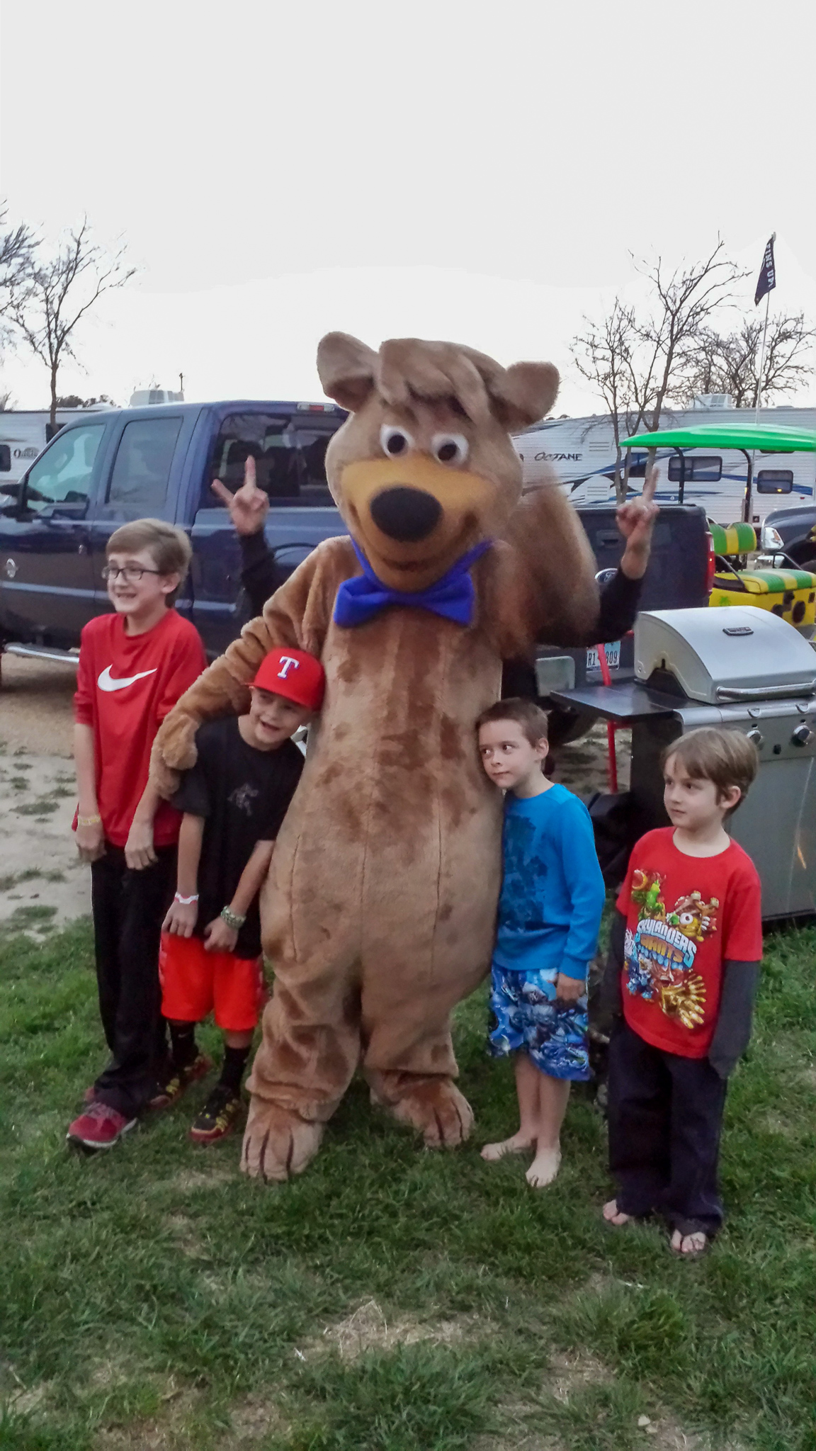 Yogi or one of the other characters will come around to visit during the day. The kids love this!