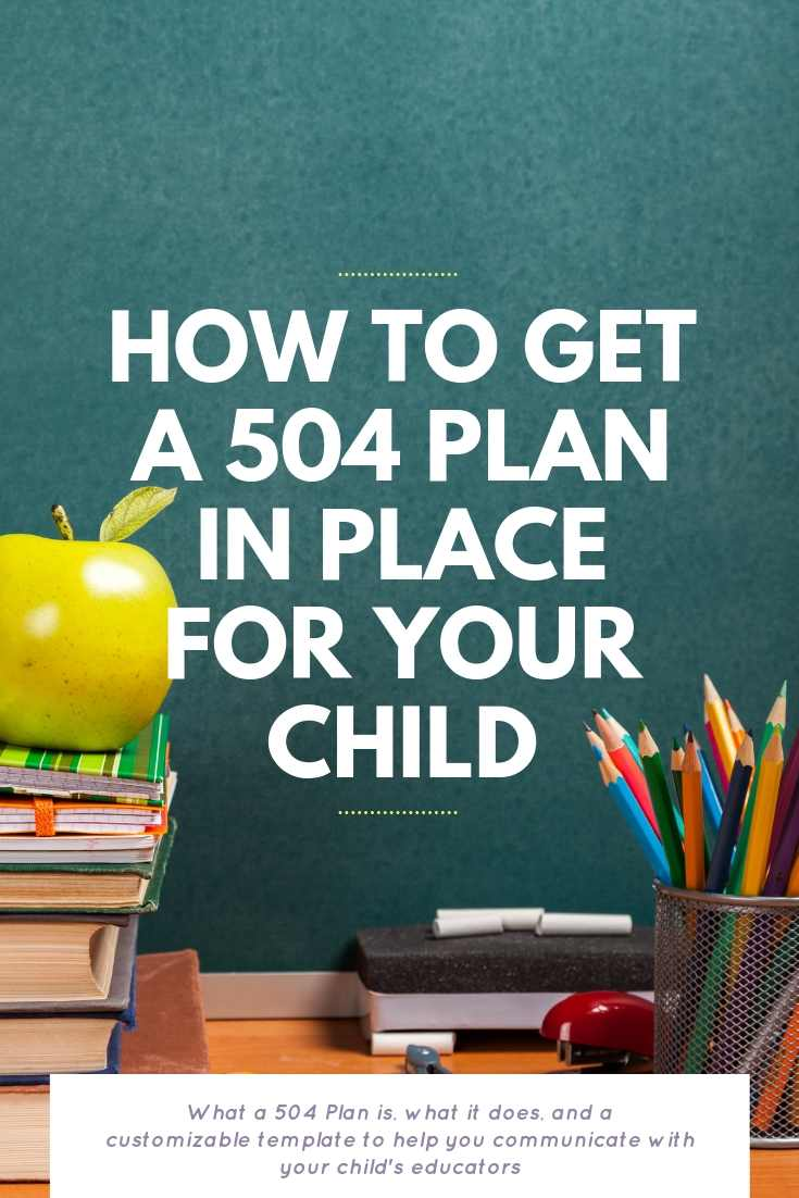 How To Get A 504 Plan In Place For Your Child | Bring Mommy A Martini