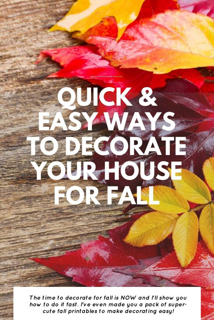 Quick & Easy Ways To Decorate Your House For Fall | Bring Mommy A Martini