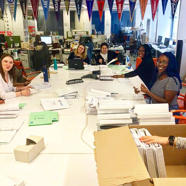 We're hard at work prepping for the arrival of our summer teaching fellows! Next week 55 teaching fellows representing 41 different colleges from around the nation will begin their summer orientation. #btny
