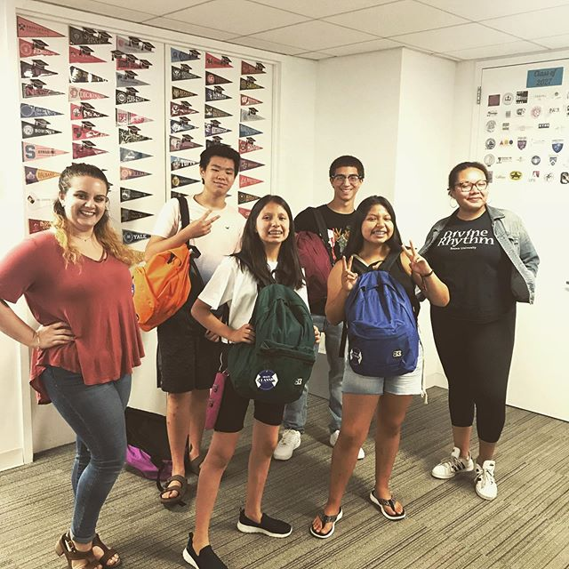 Back-to-school season can be both exciting and stressful--we are here to support all our BTNY students as they navigate the path to and through college. And with these backpacks donated by MSCI they've got the gear they need! #btny #workhardaimhigh