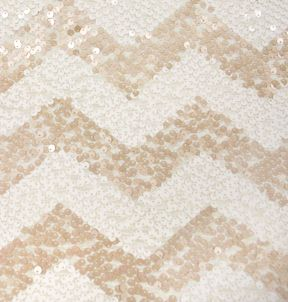 Ivory Chevron Sequin