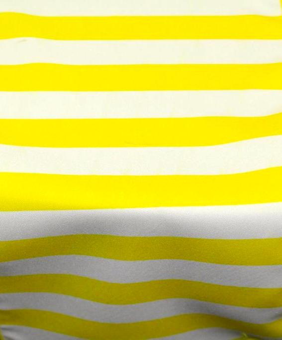Yellow & White Stripe
