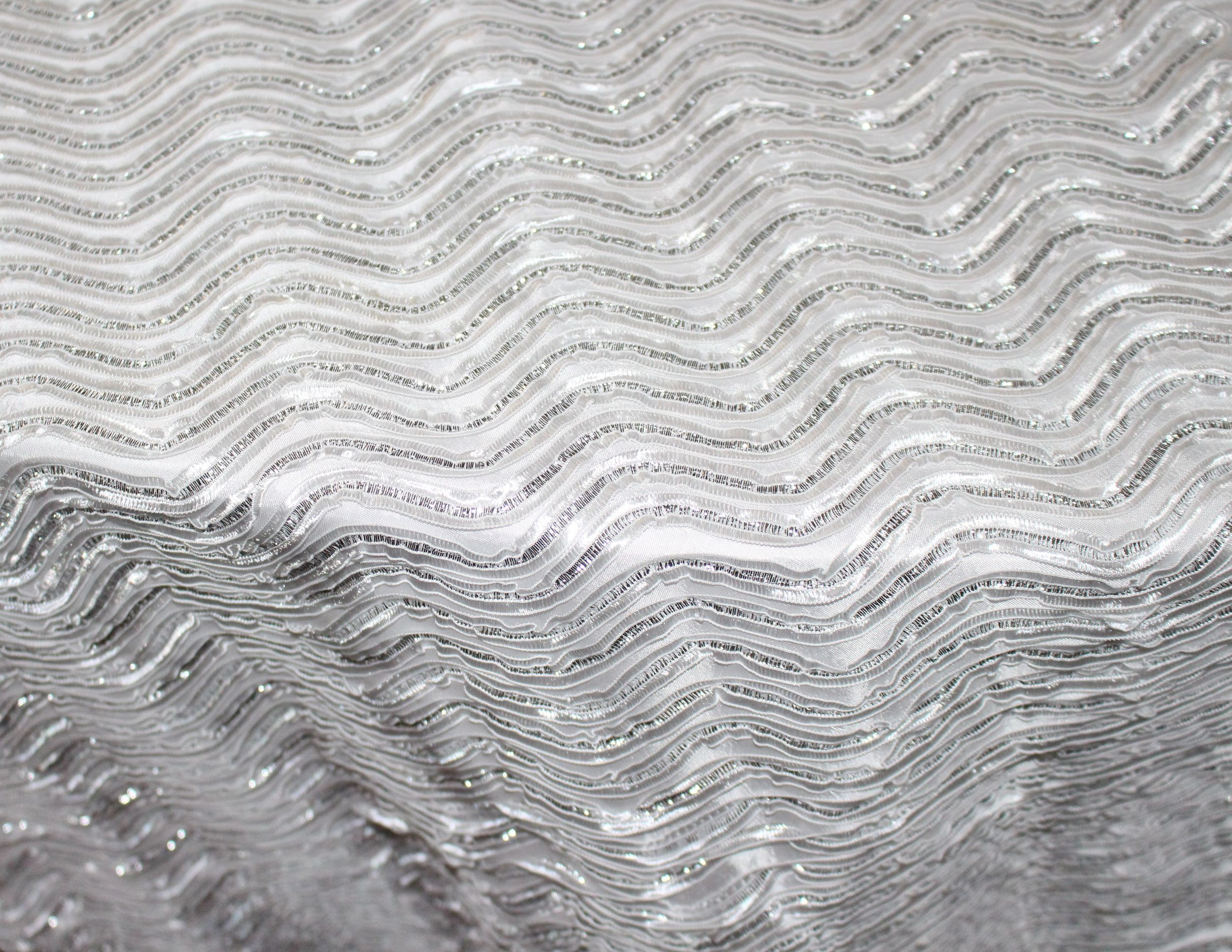 White/Silver Modern Wave