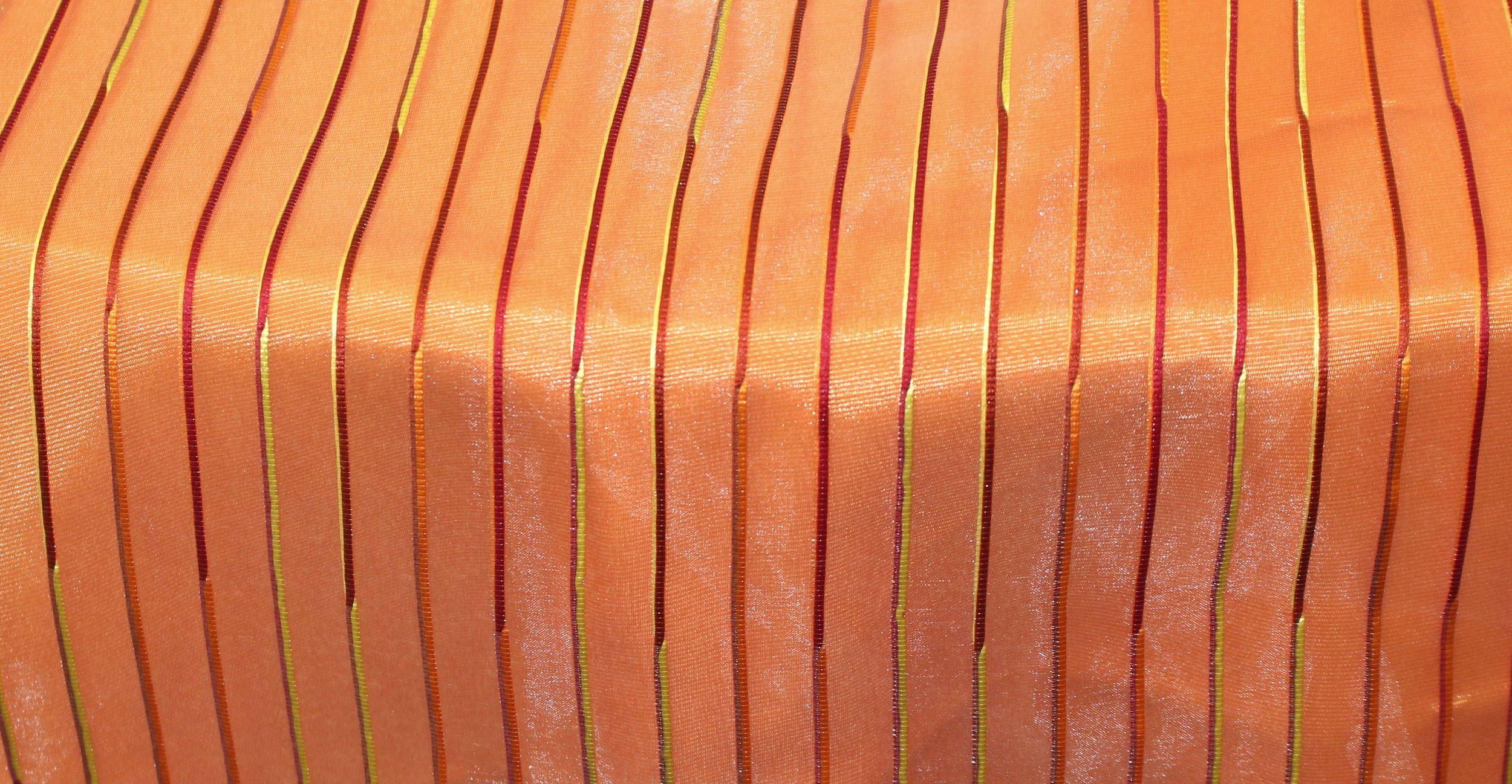 Sheer Top Hat Overlay over Orange Bengaline