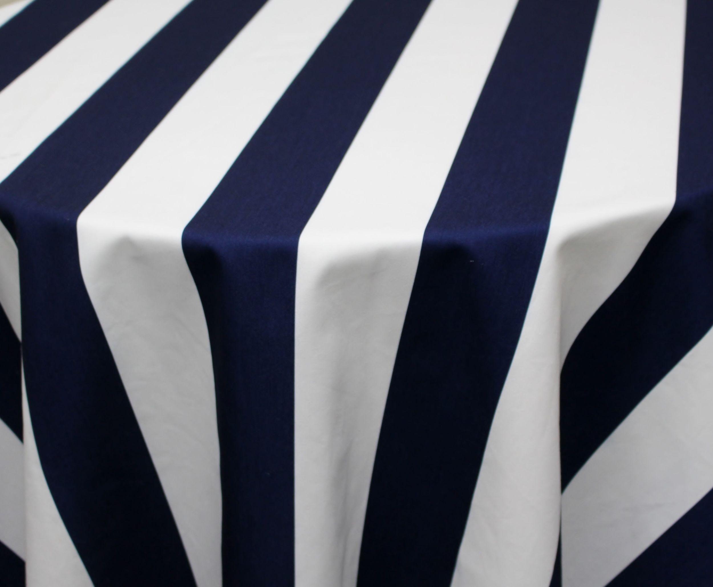 Navy/White Cabana Stripe