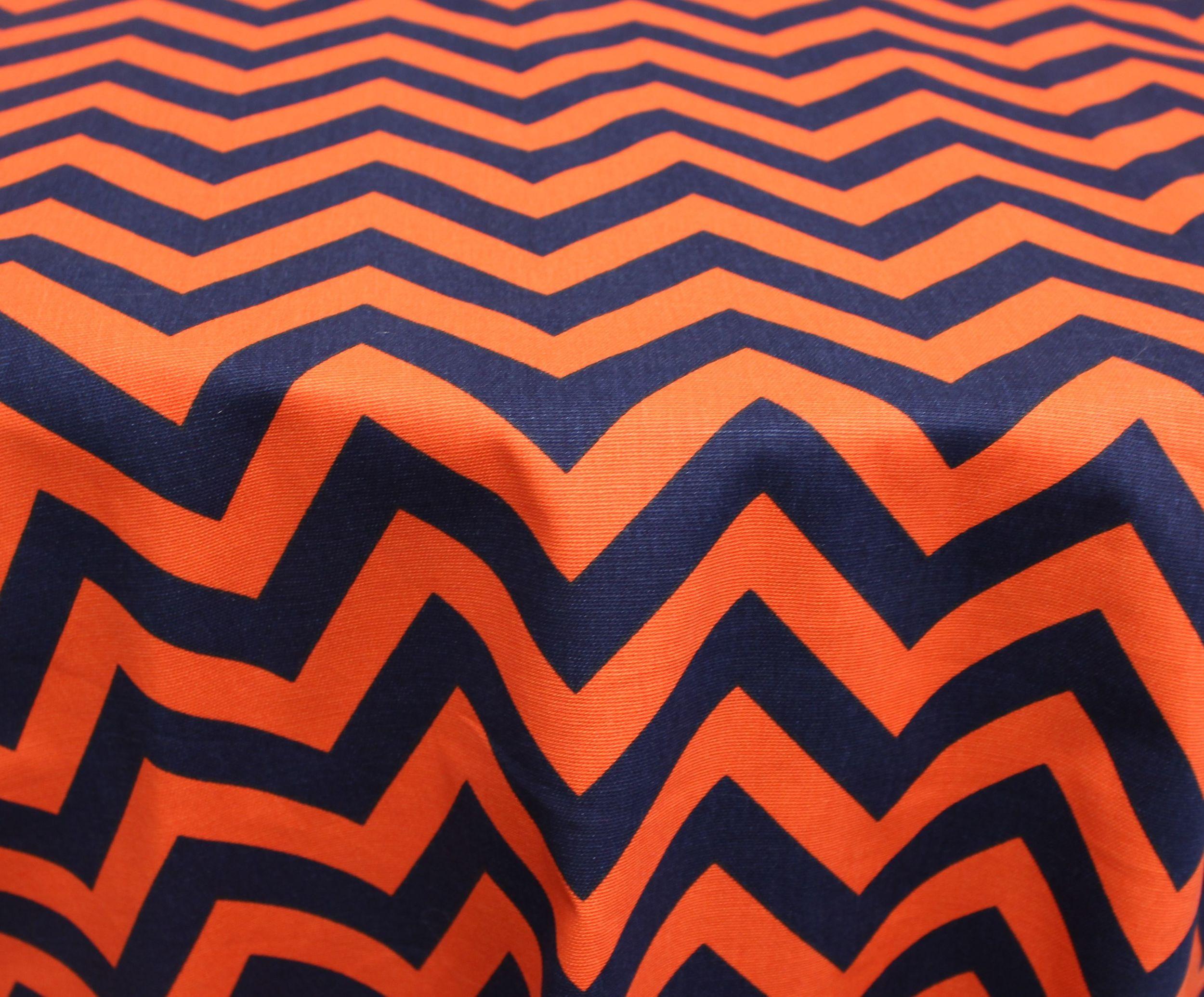 Navy/Orange Zigzag