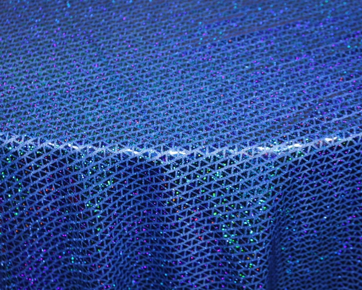 Royal Blue Triangle Sequins