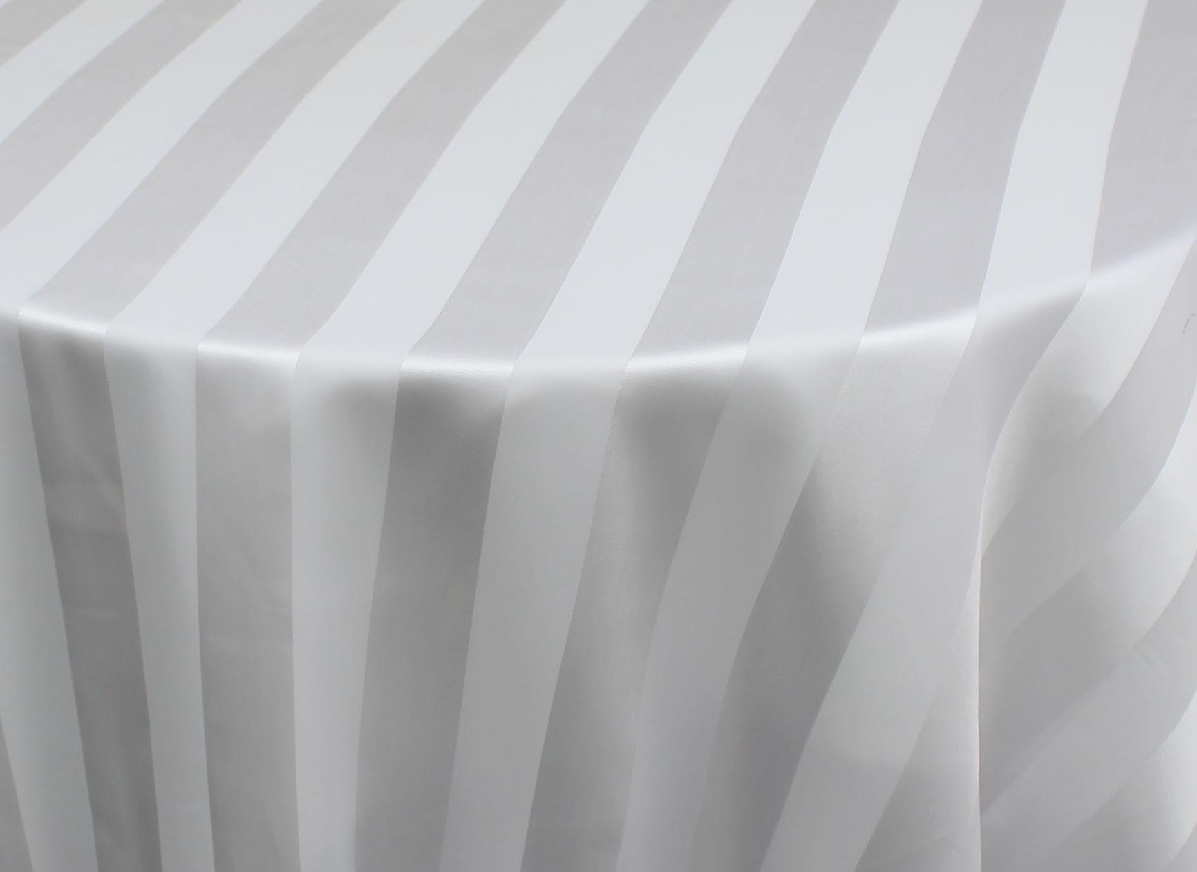 White Sheer Stripe Overlay