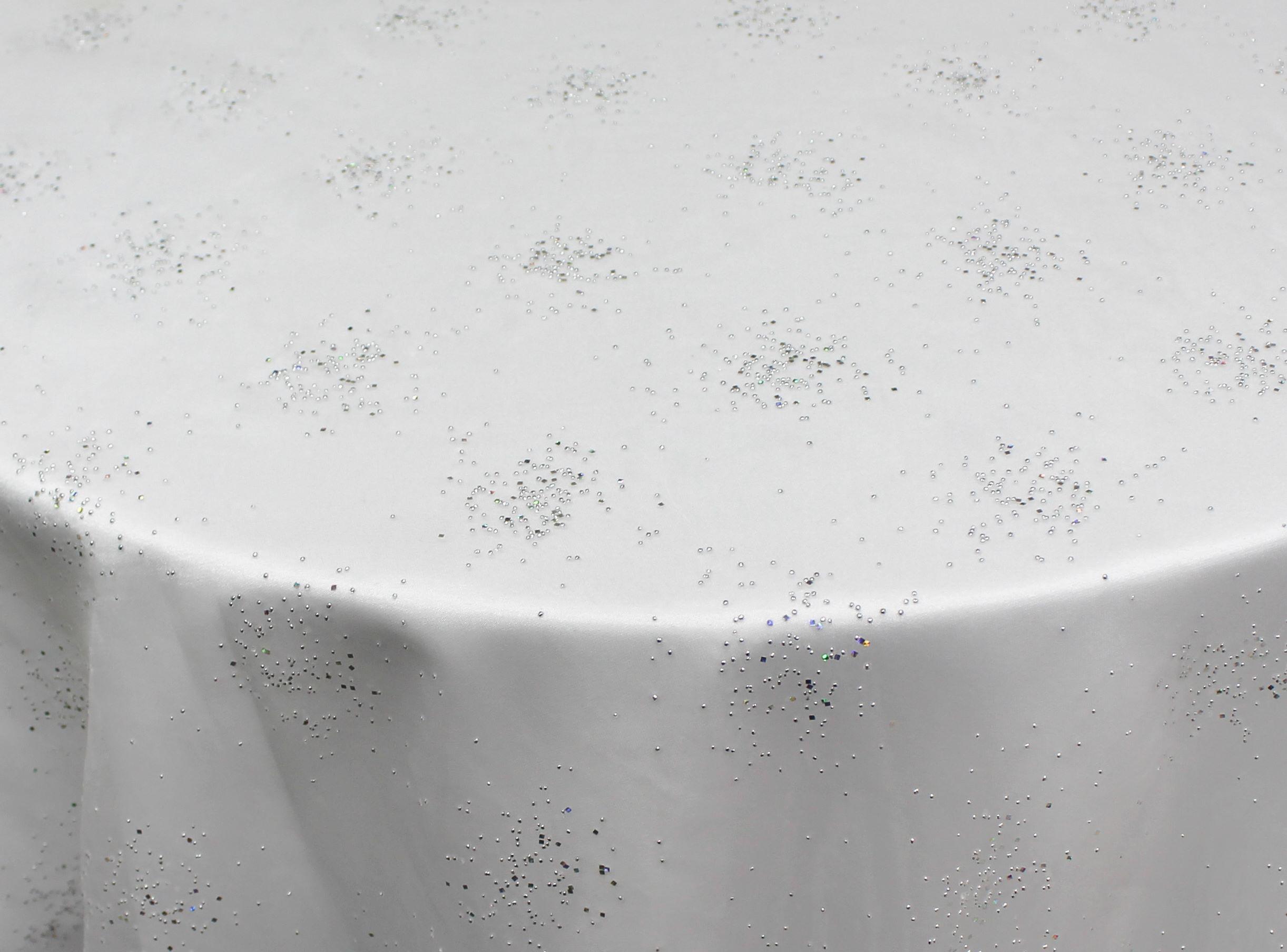 White Sheer Twinkle Organza Overlay
