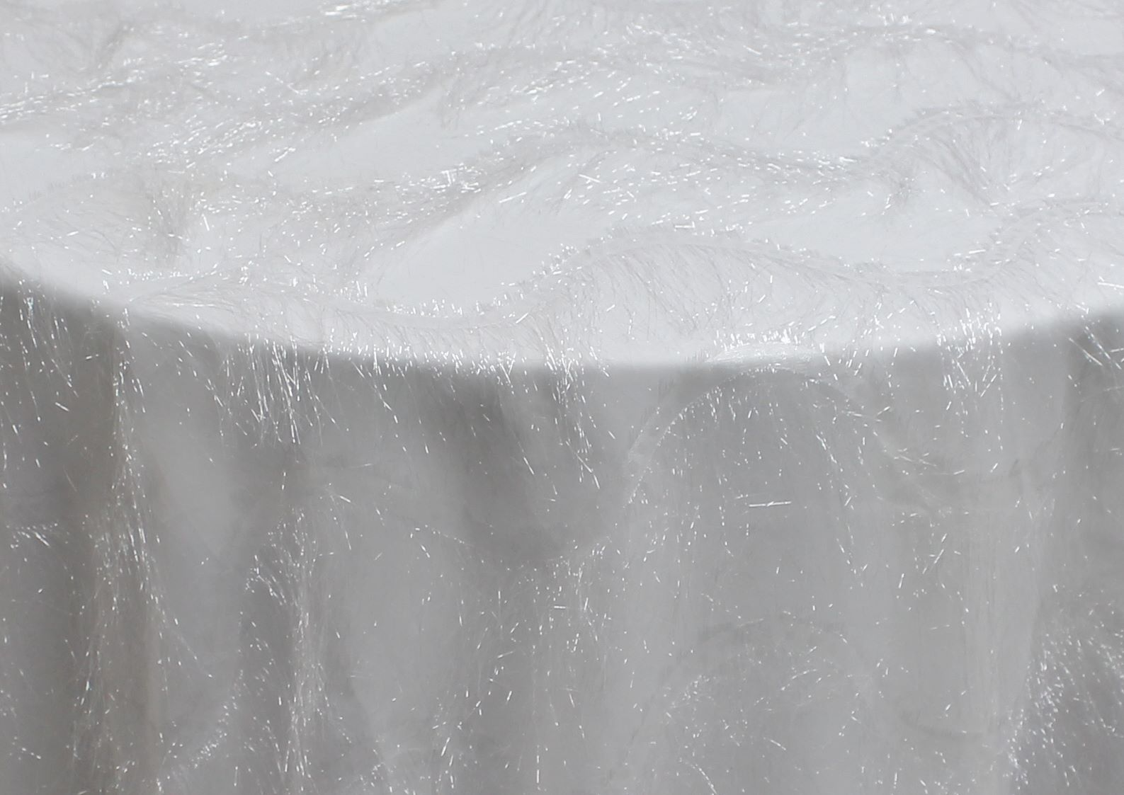 White Sheer Eyelash Wave Overlay