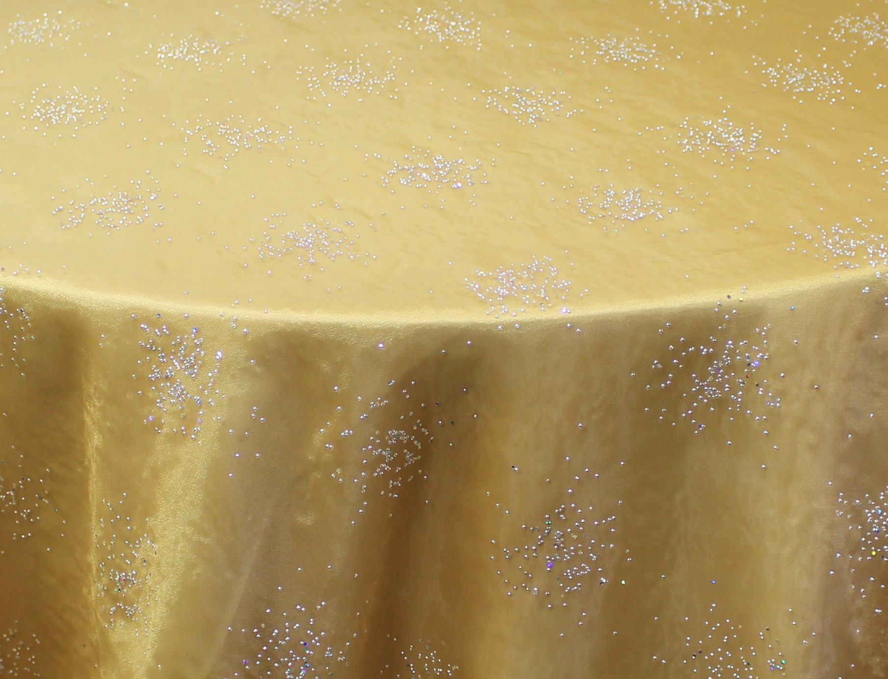 Gold Twinkle Organza Overlay