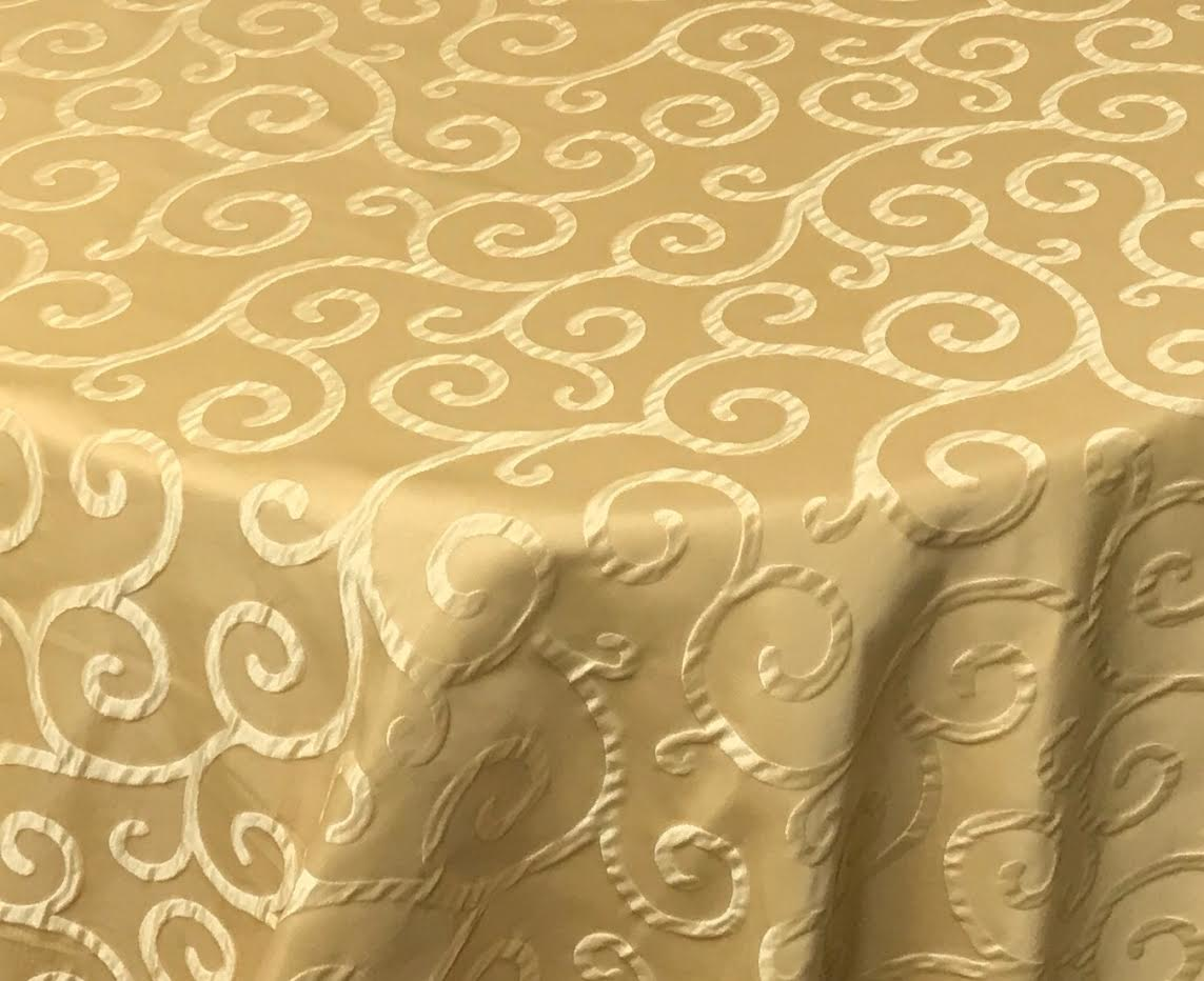 Pattern: Belmont Scroll Color: Canary Yellow Content: 85% Polyester/15% Rayon
