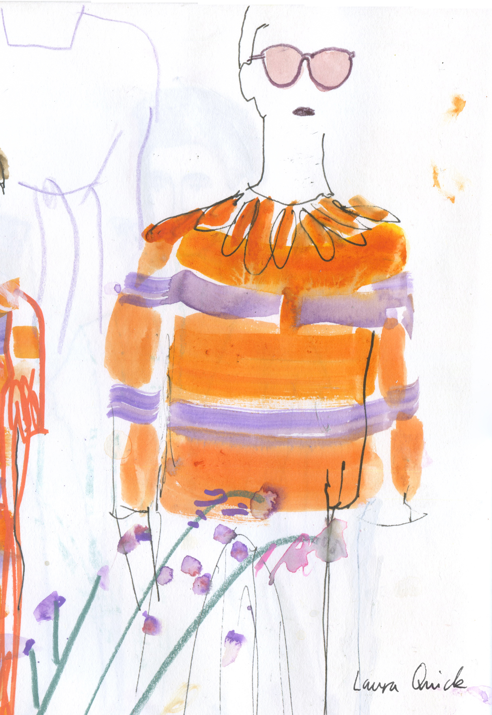 Paul Smith ss17 Live Drawing. AnOther Mag