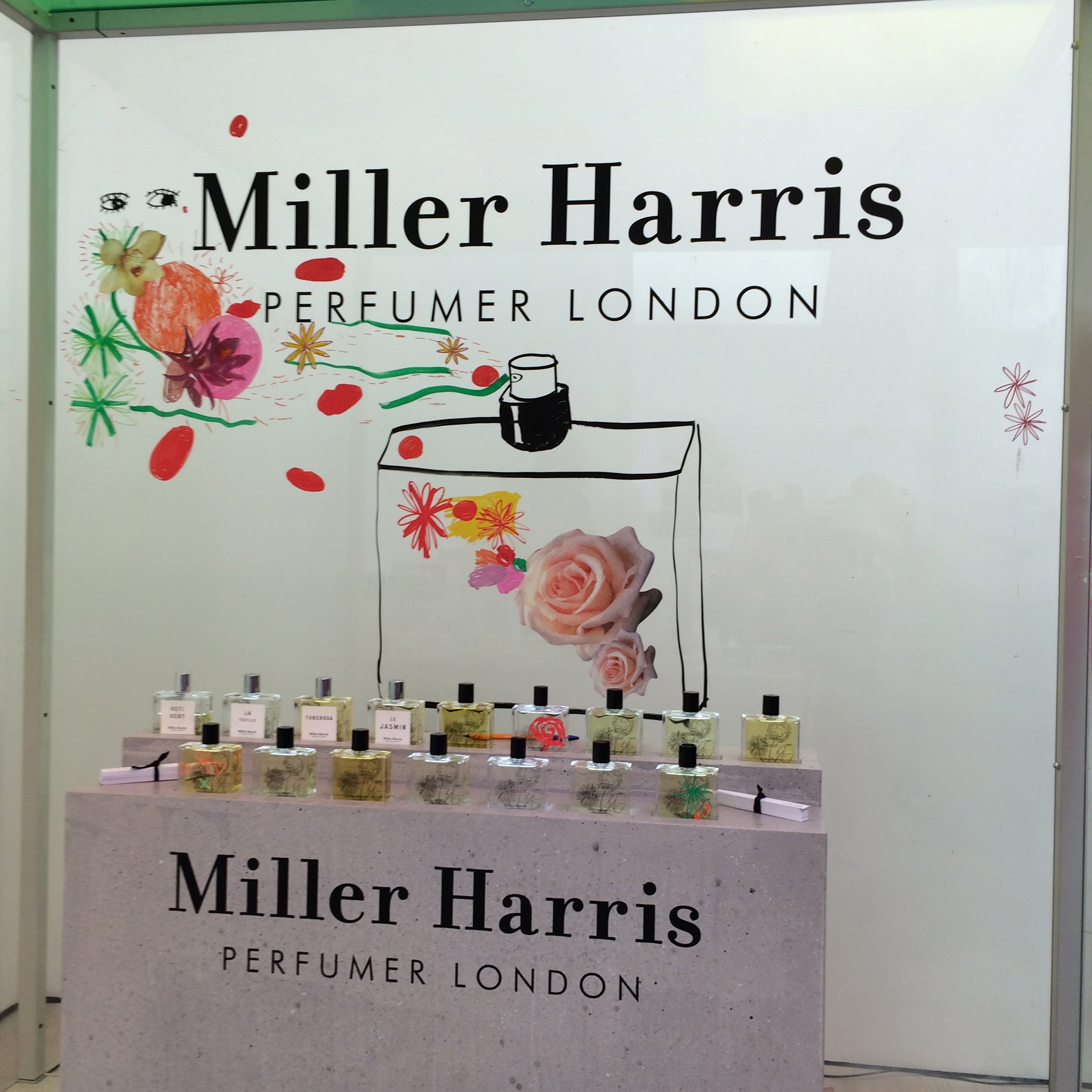 Miller Harris at London Fashion Weekend ss17 Saatchi Gallery
